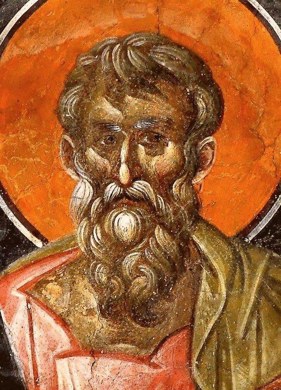 Святой Апостол и Евангелист Матфей. Фреска монастыря Грачаница, Косово, Сербия. Около 1320 года.