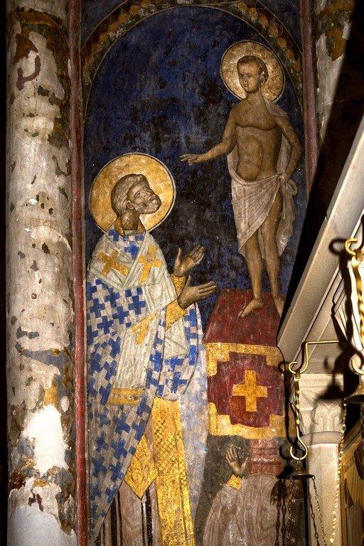 Видение Святого Петра Александрийского. Фреска церкви Святой Троицы в монастыре Манасия (Ресава), Сербия. До 1418 года.