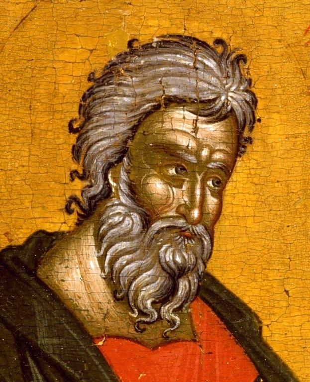 Святой Апостол Андрей Первозванный. Икона. Македония, XIV век. Лик.