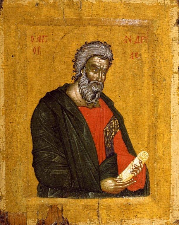 Святой Апостол Андрей Первозванный. Икона. Македония, XIV век.
