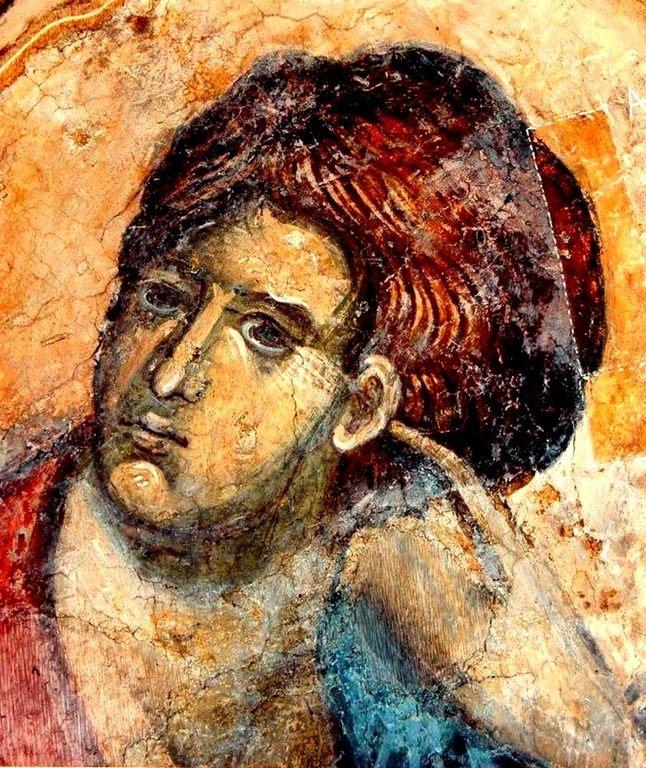 Святой Пророк Аввакум. Фреска церкви Святого Николая в монастыре Куртя де Арджеш, Румыния. XIV век.