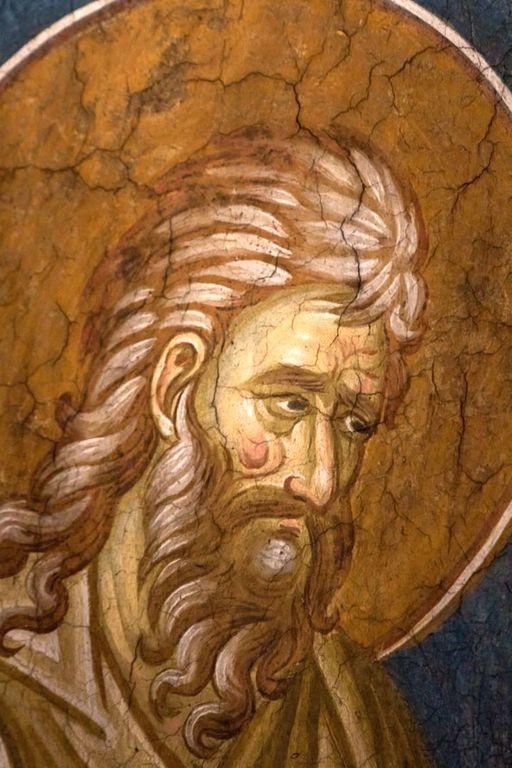 Святой Пророк Софония. Фреска монастыря Высокие Дечаны, Косово, Сербия. Около 1350 года.