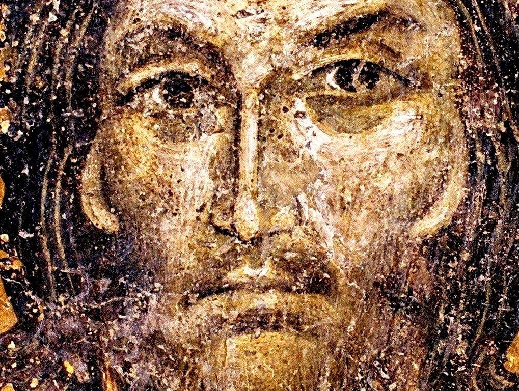 Спас Нерукотворный. Фреска церкви Святых Николая и Пантелеимона (Боянской церкви) близ Софии, Болгария.