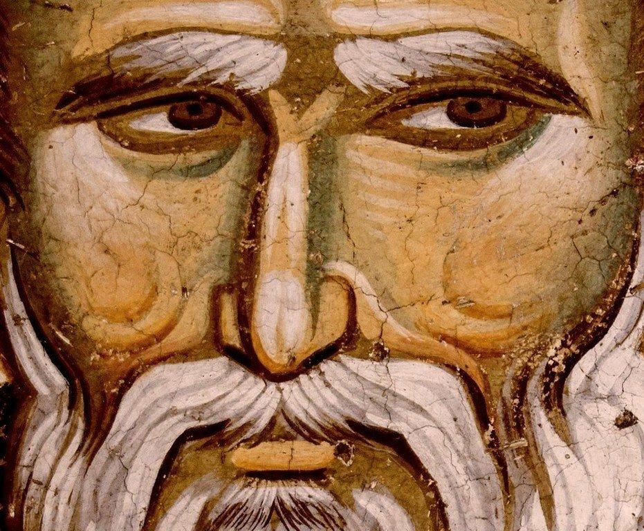 Святитель Николай Чудотворец. Фреска церкви Святых Апостолов в монастыре Печская Патриархия, Косово, Сербия. Около 1300 года.