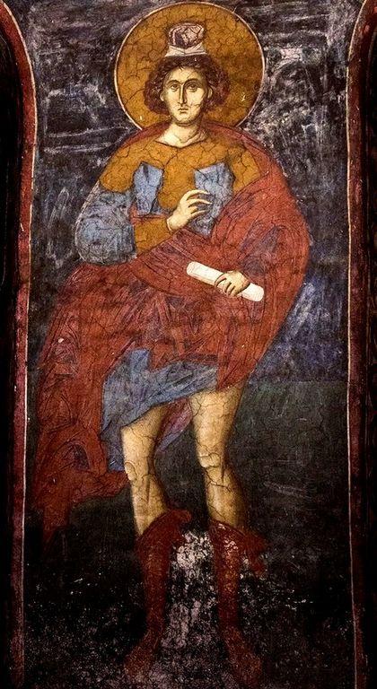Святой Пророк Даниил. Фреска монастыря Высокие Дечаны, Косово, Сербия. Около 1350 года.