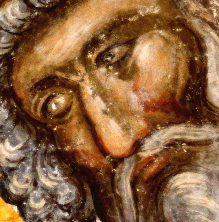 Святитель Сильвестр, Папа Римский. Фреска церкви Святой Троицы в монастыре Манасия (Ресава), Сербия. До 1418 года.