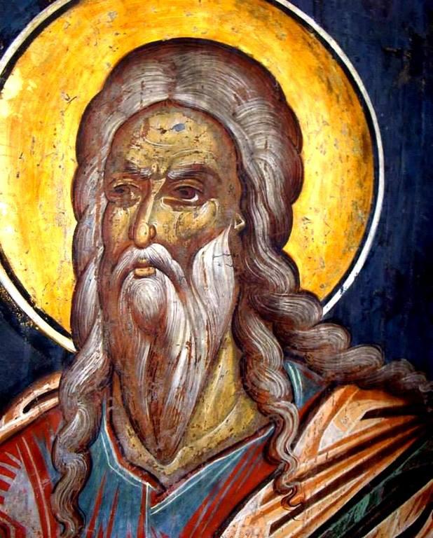 Святой Пророк Малахия. Фреска церкви Святого Георгия в Сучаве, Румыния. 1534 год.