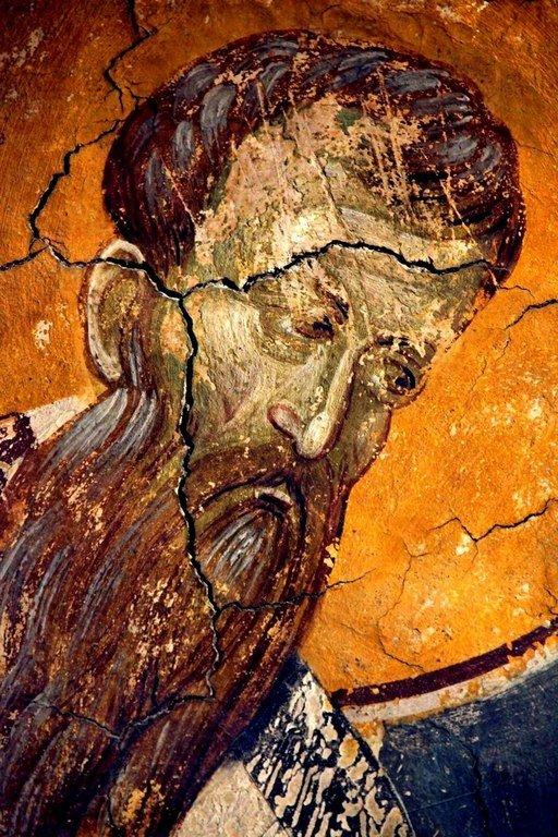 Святитель Григорий, Епископ Нисский. Фреска монастыря Грачаница, Косово, Сербия. Около 1320 года.