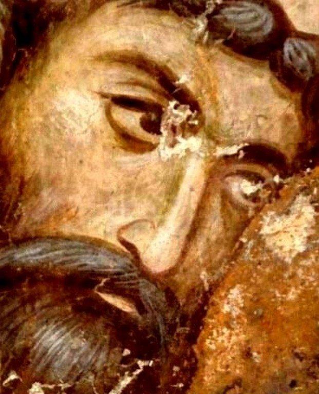 Святитель Савва II, Архиепископ Сербский. Фреска церкви Святой Троицы в монастыре Сопочаны, Сербия. 1265 год.