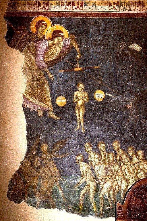 Страшный Суд. Фреска монастыря Грачаница, Косово, Сербия. Около 1320 года. Фрагмент.