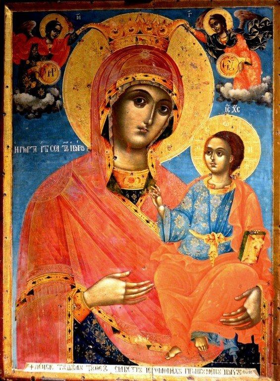 Иверская икона Божией Матери. Болгария, 1815 год.