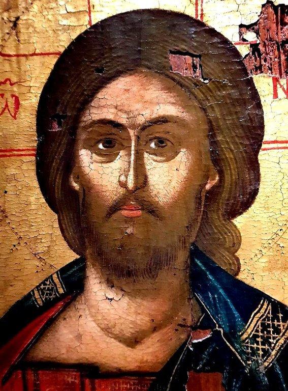Христос Пантократор. Балканская икона. Лик Спасителя.