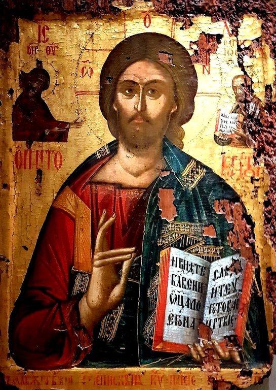 Христос Пантократор. Балканская икона.