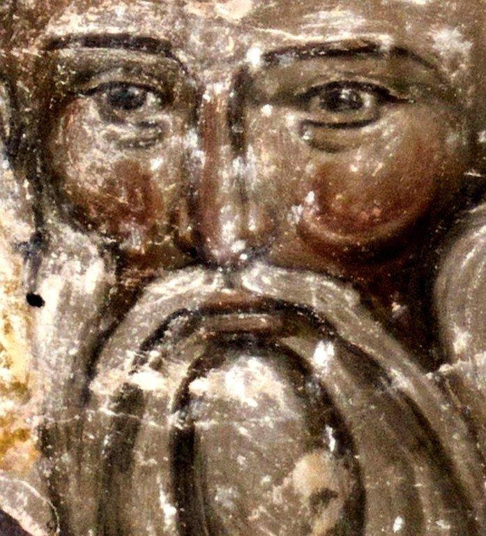 Святитель Софроний, Патриарх Иерусалимский. Фреска церкви Святой Троицы в монастыре Манасия (Ресава), Сербия. До 1418 года.