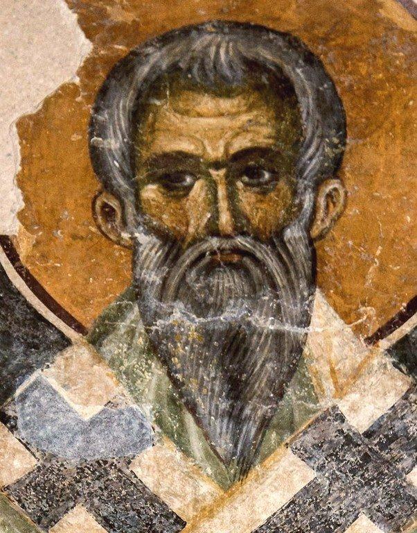 Святитель. Фреска церкви Святой Троицы в монастыре Сопочаны, Сербия. XIII век.