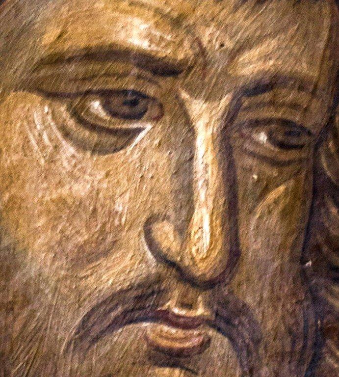 Святой Мученик Трофим Никомидийский. Фреска монастыря Высокие Дечаны, Косово, Сербия. Около 1350 года.