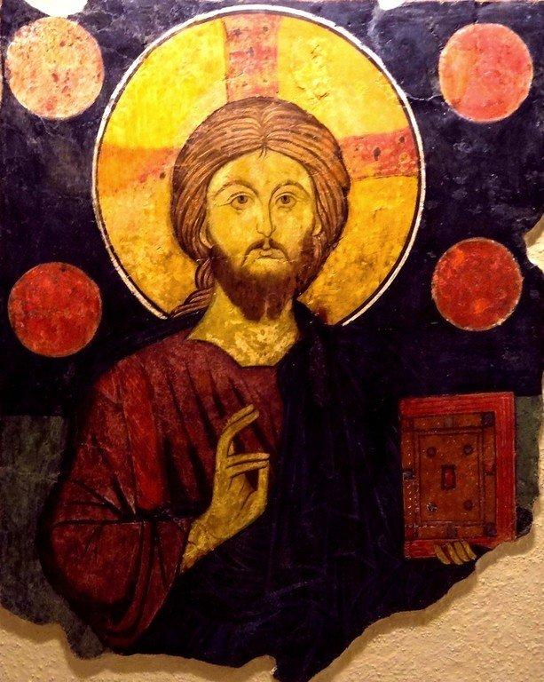 Христос Пантократор. Болгарская фреска XVII века.