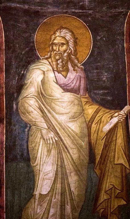 Святой Пророк Исаия. Фреска монастыря Высокие Дечаны, Косово, Сербия. Около 1350 года.