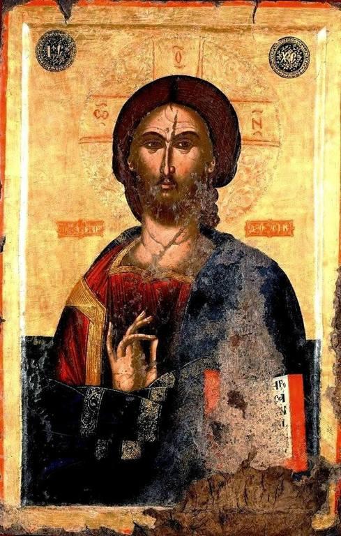 Христос Пантократор. Икона. Албания, XVI век.