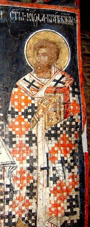 Святой Апостол Иуда Фаддей, брат Господень. Фреска церкви Святых Петра и Павла в Велико Тырново, Болгария. XV век.