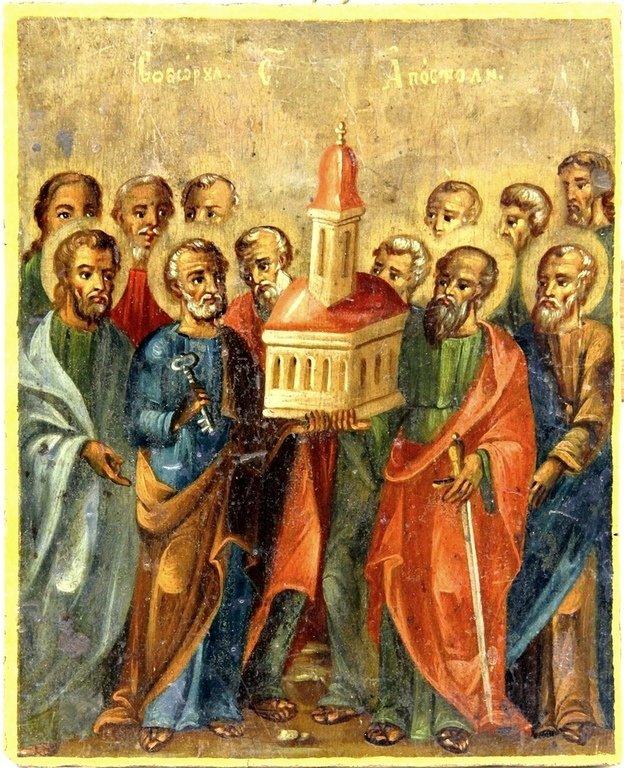 Собор Святых Двенадцати Апостолов. Румынская икона.