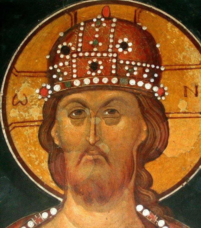 Христос Праведный Судия. Фреска Кремиковского монастыря Святого Георгия Победоносца близ Софии, Болгария. 1493 год.