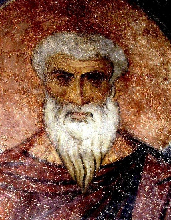 Священномученик Ермолай, иерей Никомидийский. Фреска церкви Святого Георгия в Кюстендиле, Болгария.