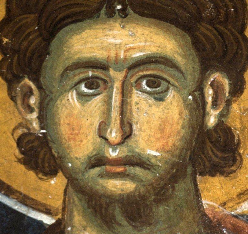 Святой Мученик Архидиакон Евпл. Фреска церкви Святого Николая в Прилепе, Македония. 1298 год.
