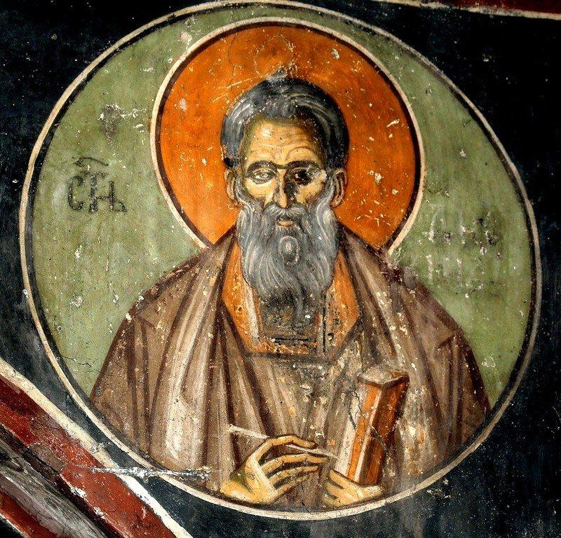 Святой Мученик Диомид Врач. Фреска церкви Святого Ахиллия в Ариле (Арилье), Сербия. 1296 год.