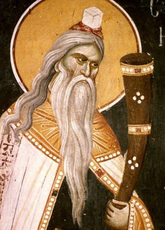 Святой Пророк Самуил. Фреска монастыря Грачаница, Косово, Сербия. Около 1320 года.