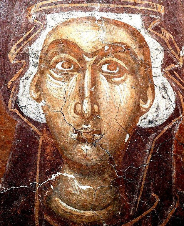 Богоматерь Оранта. Фреска церкви Спаса в Призрене, Косово, Сербия. XIV век. Фрагмент.