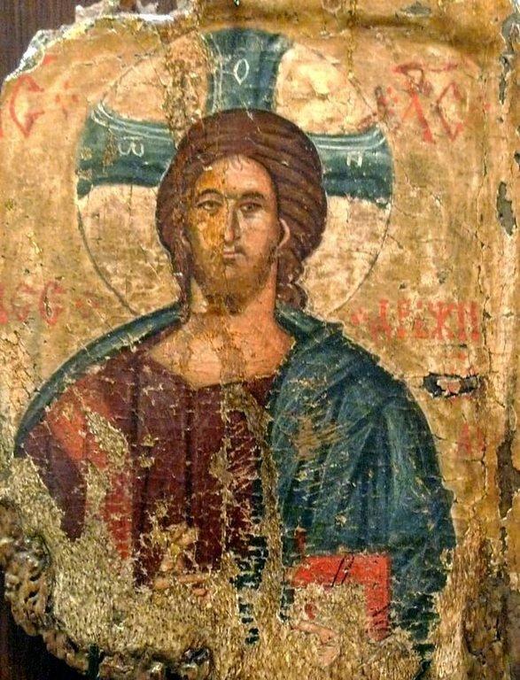 Христос Пантократор. Болгарская икона.