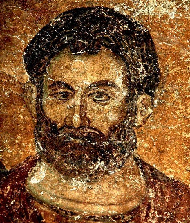 Святой Великомученик Евстафий Плакида. Фреска церкви Святого Ахиллия в Ариле (Арилье), Сербия. 1296 год.