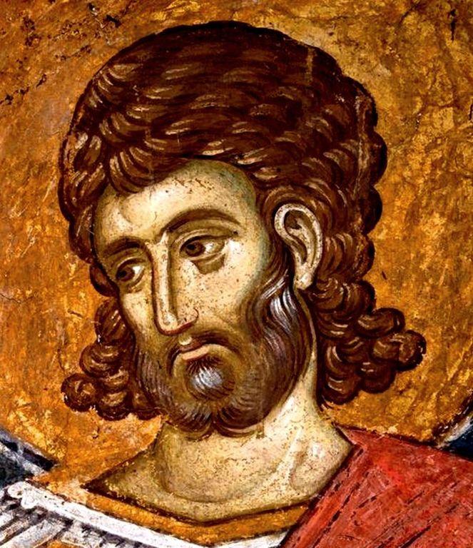 Святой Великомученик Евстафий Плакида. Фреска монастыря Высокие Дечаны, Косово, Сербия. Около 1350 года.