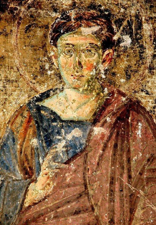 Святой Апостол Фома. Фреска церкви Вознесения Господня в монастыре Милешева (Милешево), Сербия. XIII век.