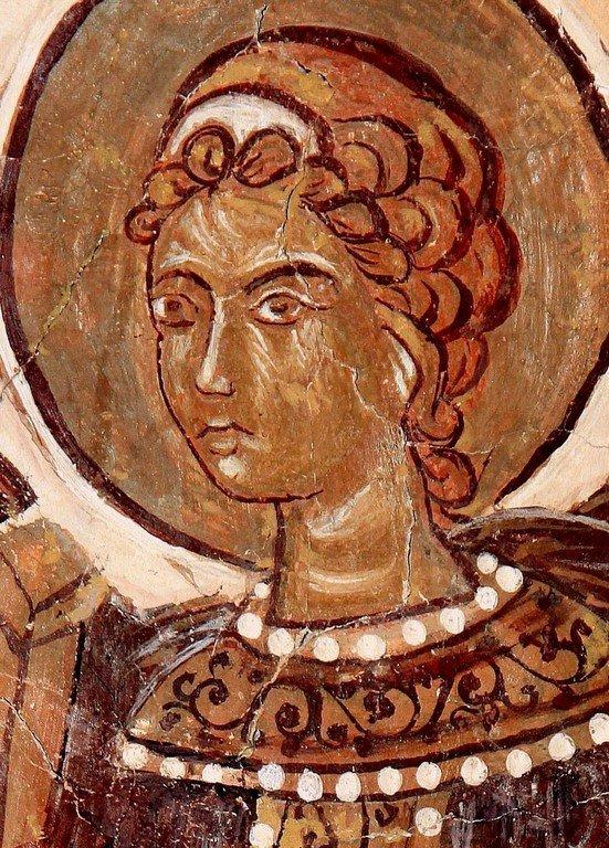 Ангел Господень. Фреска церкви Святого Георгия в Призрене, Косово, Сербия. XVI век.