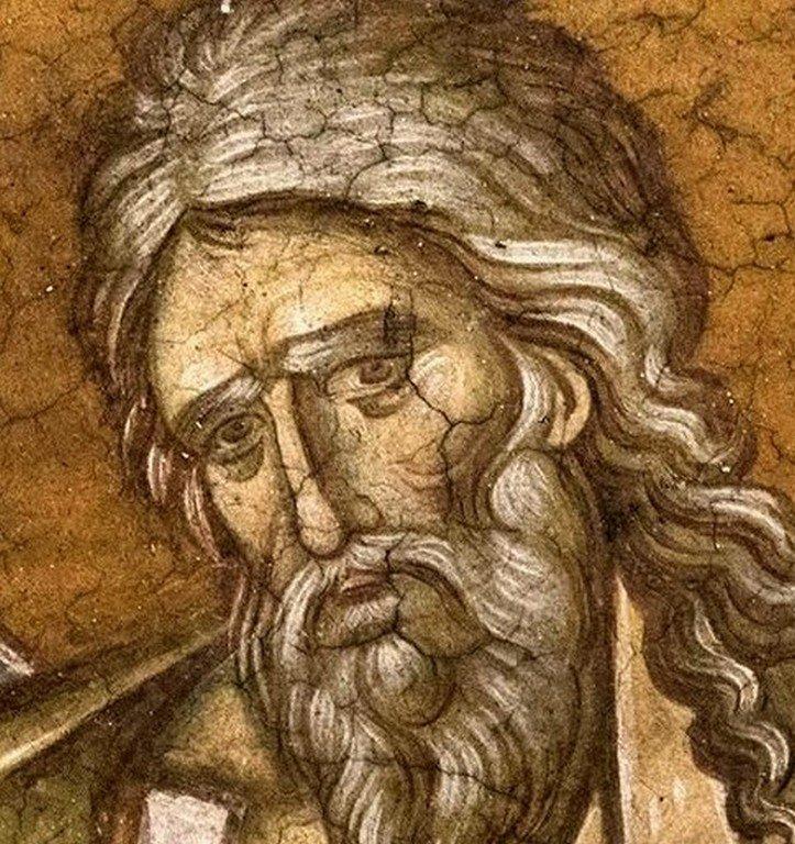 Святой Пророк Иоиль. Фреска монастыря Высокие Дечаны, Косово, Сербия. До 1350 года.