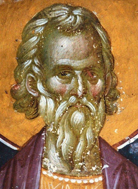 Святой Мученик Арефа Негранский. Фреска монастыря Грачаница, Косово, Сербия. Около 1320 года.