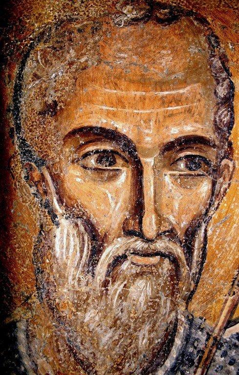 Святой Мученик Арефа Негранский (?). Фреска церкви Святых Николая и Пантелеимона (Боянской церкви) близ Софии, Болгария. 1259 год.