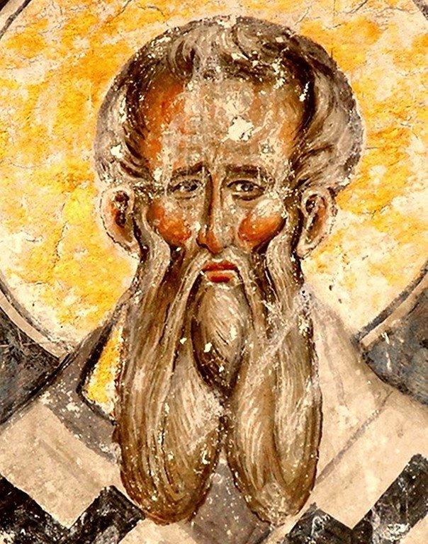 Святой Апостол от Семидесяти Апеллий. Фреска церкви Святой Троицы в монастыре Манасия (Ресава), Сербия. До 1418 года.
