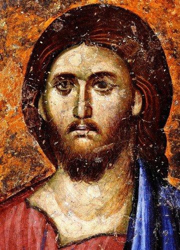 Лик Спасителя. Фреска церкви Святой Троицы в монастыре Сопочаны, Сербия. XIII век.