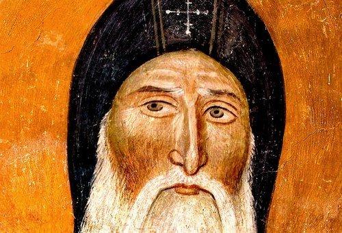 Святой Преподобный Симеон Мироточивый. Фреска церкви Святых Иоакима и Анны (Королевской церкви) в монастыре Студеница, Сербия. 1314 год.