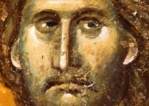 Господь Иисус Христос. Фреска церкви Богородицы Левишки в Призрене, Косово, Сербия. Около 1310 - 1313 годов. Иконописцы Михаил Астрапа и Евтихий.