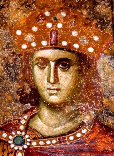 Святой Пророк Царь Соломон. Фреска церкви Святой Троицы в монастыре Сопочаны, Сербия. 1265 год.