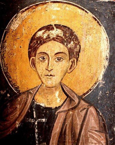 Святой Мученик. Фреска церкви Святых Николая и Пантелеимона (Боянской церкви) близ Софии, Болгария.