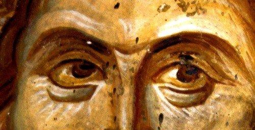 Христос Спаситель мира. Фреска церкви Святых Апостолов в монастыре Печская Патриархия, Косово, Сербия. Около 1350 года.