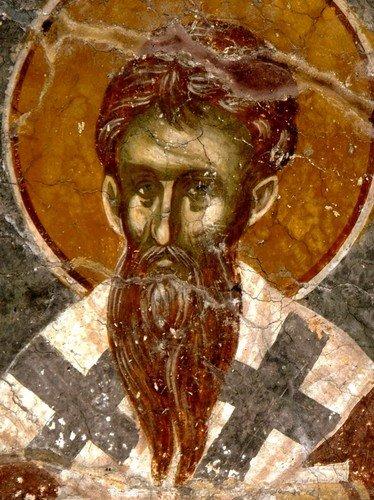 Святитель. Фреска церкви Святого Никиты в Чучере близ Скопье, Македония. Около 1316 года. Иконописцы Михаил Астрапа и Евтихий.