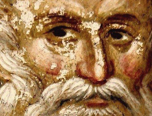 Святой Преподобный Савва Освященный. Фреска монастыря Грачаница, Косово, Сербия. Около 1320 года.