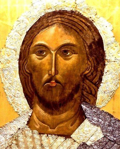 Христос Пантократор. Болгарская икона XIV века.