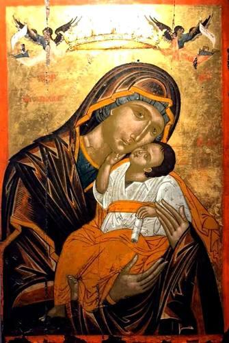 Богоматерь Елеуса. Икона. Национальный музей средневекового искусства в г. Корча, Албания.